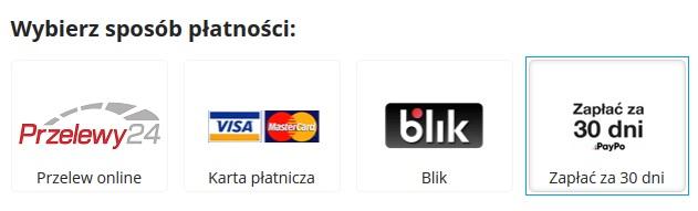 Wybierz Zapłać za 30 dni z PayPo